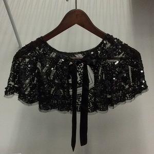 Cute Black Sequin Capelette/Skirt/Tutu
